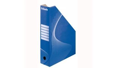 Pojemnik kartonowy na czasopisma ESSELTE niebieskie 10025