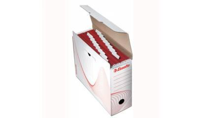 Pudełko archiwizacyjne na teczki zaw.ESSELTE białe 10965