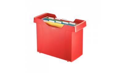 Kartoteka na teczki LEITZ DECOFLEX PLUS czerwona 19931025