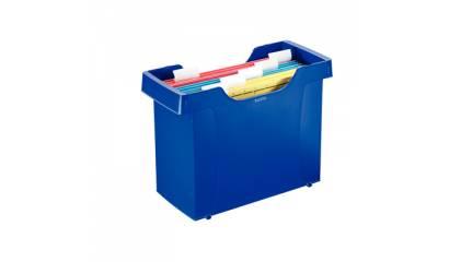 Kartoteka na teczki LEITZ DECOFLEX PLUS niebieska 19931035