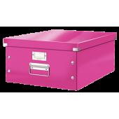 Pudło archiwizacyjne LEITZ Click&Store WOW do formatu A3 różowe 60450023