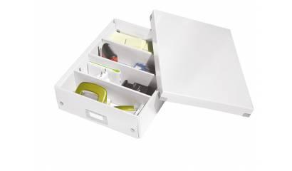 Pudło z przegródkami LEITZ Click&Store, średnie, biały 60580001