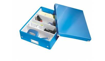 Pudło z przegródkami LEITZ Click&Store WOW, średnie, niebieski 60580036