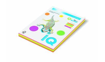 Papier xero A4/80g IQ COLOR Mix kolor neonowy 4x25 (100ark)