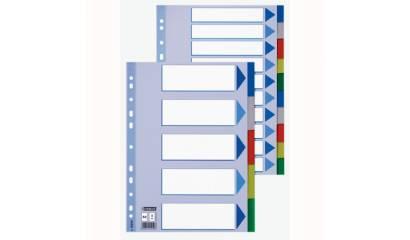 Przekładki PP ESSELTE A4 2x5 kolorów 15261