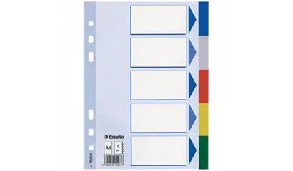 Przekładki PP ESSELTE A5 5 kolorów 15264
