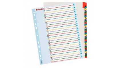 Przekładki kartonowe ESSELTE A4 MAXI 1-31 wielokrotnego opisu 100210