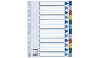 Przekładki PP ESSELTE A4 20 kolorów 15263