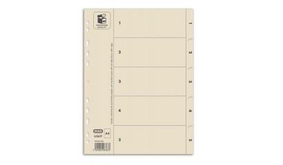 Przekładki kartonowe ELBA Light A4 1-5 400007992