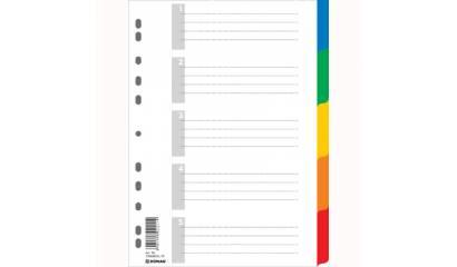 Przekładki PP DONAU A4 5 kolorów 7704095PL-99