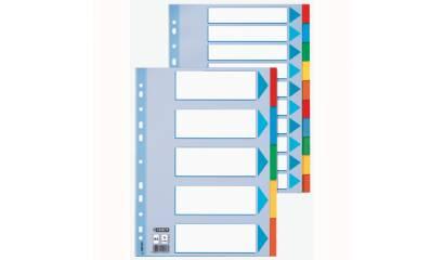 Przekładki kartonowe ESSELTE A4 5 kart w 5 kolorach 100191