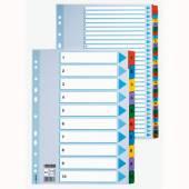 Przekładki kartonowe ESSELTE A4 1-10 MYLAR 100161
