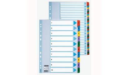 Przekładki kartonowe ESSELTE A4 1-12 MYLAR 100162