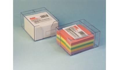Pojemnik z kartkami HAS 8.5x8.5/5cm wkład kolor