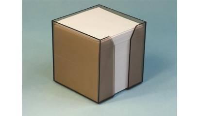 Pojemnik z kartkami HAS 8.5x8.5/9cm wkład biały