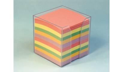 Pojemnik z kartkami HAS 8.5x8.5/9cm wkład kolor