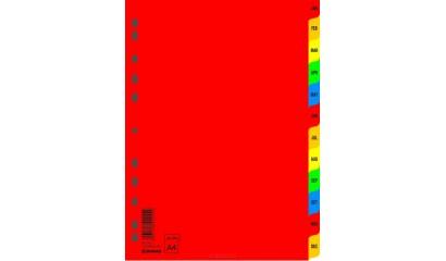Przekładki PP DONAU A4 JAN-DEC kolorowe 7737095PL-99