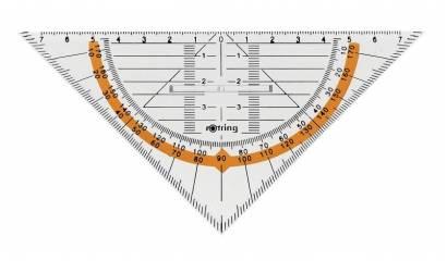 Ekierka geometryczna ROTRING Centro z uchwytem,16cm S0903940