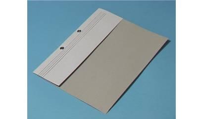 Skoroszyt kartonowy Kiel-Tech A4 oczkowy biały 1/2 (1szt)