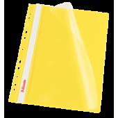 Skoroszyt miękki zaw. ESSELTE A4 żółty (10szt) 13584