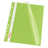 Skoroszyt miękki zaw. ESSELTE A4 zielony (10szt) 13587