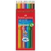 Kredki trójkątne 12 kolorów Faber-Castell Grip 2001