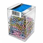 Spinacz E&D Plastic zebra 28mm (300) 6060