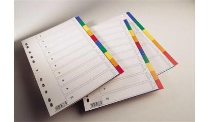 Przekładki PP SPOKO 0423 A4 2 x 5 kolorów 8863