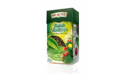 Herbata liściasta BIG-ACTIVE zielona z opuncją (100g)