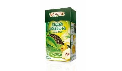 Herbata liściasta BIG-ACTIVE zielona z pigwą (100g)