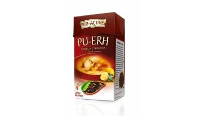 Herbata liściasta czewona BIG-ACTIVE z cytryną (100g)