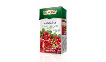 Herbata owocowa BIG-ACTIVE żurawina,granat,Yerba Mate i guarana (20T)