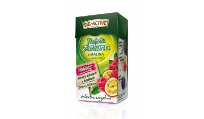 Herbata zielona BIG-ACTIVE malina z marakują (20T)