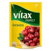 Herbata owocowa VITAX Family żurawina (20T)