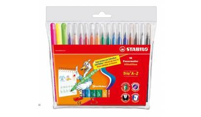 Flamastry STABILO TRIO A-Z kpl. 24 kolorów  378 / 1-24-02