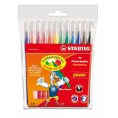 Flamastry STABILO Power 12 kolorów 280 / 12-02