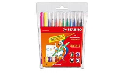 Flamastry STABILO TRIO A-Z kpl. 12kol.378/1-12-02