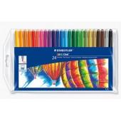 Flamastry szkolne STAEDTLER Noris Club 24 kolory etui 325 WP24