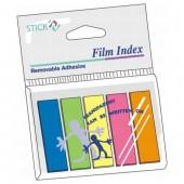 Zakładki indeksujące STICK'N 45x12 5 kolorów  neon w folii 21050
