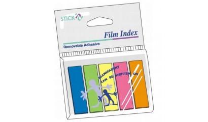 Zakładki indeksujące STICK'N 45x12 5kol. neon w folii 21050