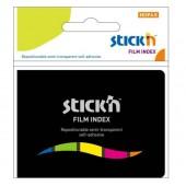 Zakładki indeksujące STICK'N 45x12 5 kolorów neon w etui 21076