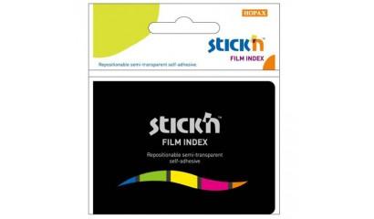 Zakładki indeksujące STICK'N 45x12 5kol.neon w etui 21076