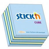 Notes samoprzylepny STICK'N Kostka 76x76mm 400 karteczek Mix (n.róż / n.c-róż,n.żółty,żółty past) 21536 / 21340