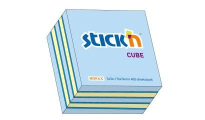 Notes samoprzylepny STICK'N Kostka 76x76mm 400 karteczek Mix (n.róż/n.c-róż,n.żółty,żółty past) 21536/21340