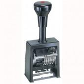 Numerator REINER B6K 6-cyfrowy samotuszujący 4.5mm czarny