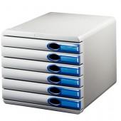 Pojemnik LEITZ Allura 6 szufladowy szaro-niebieski 52080005