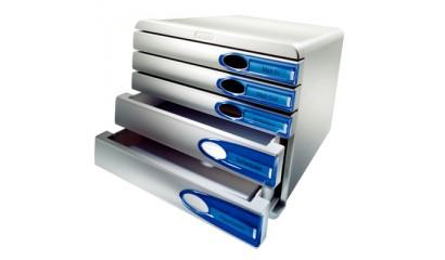 Pojemnik LEITZ Allura 5 szufladowy szaro-niebieski 52070005