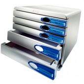 Pojemnik LEITZ Allura 5 szufladowy szaro-grafitowy 52070092