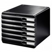 Pojemnik LEITZ Allura 6 szufladowy czarny 52080095