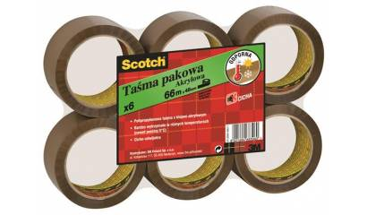 Taśma pakowa 3M Scotch akrylowa brązowa 50mm x 66m (6szt) S5066F6